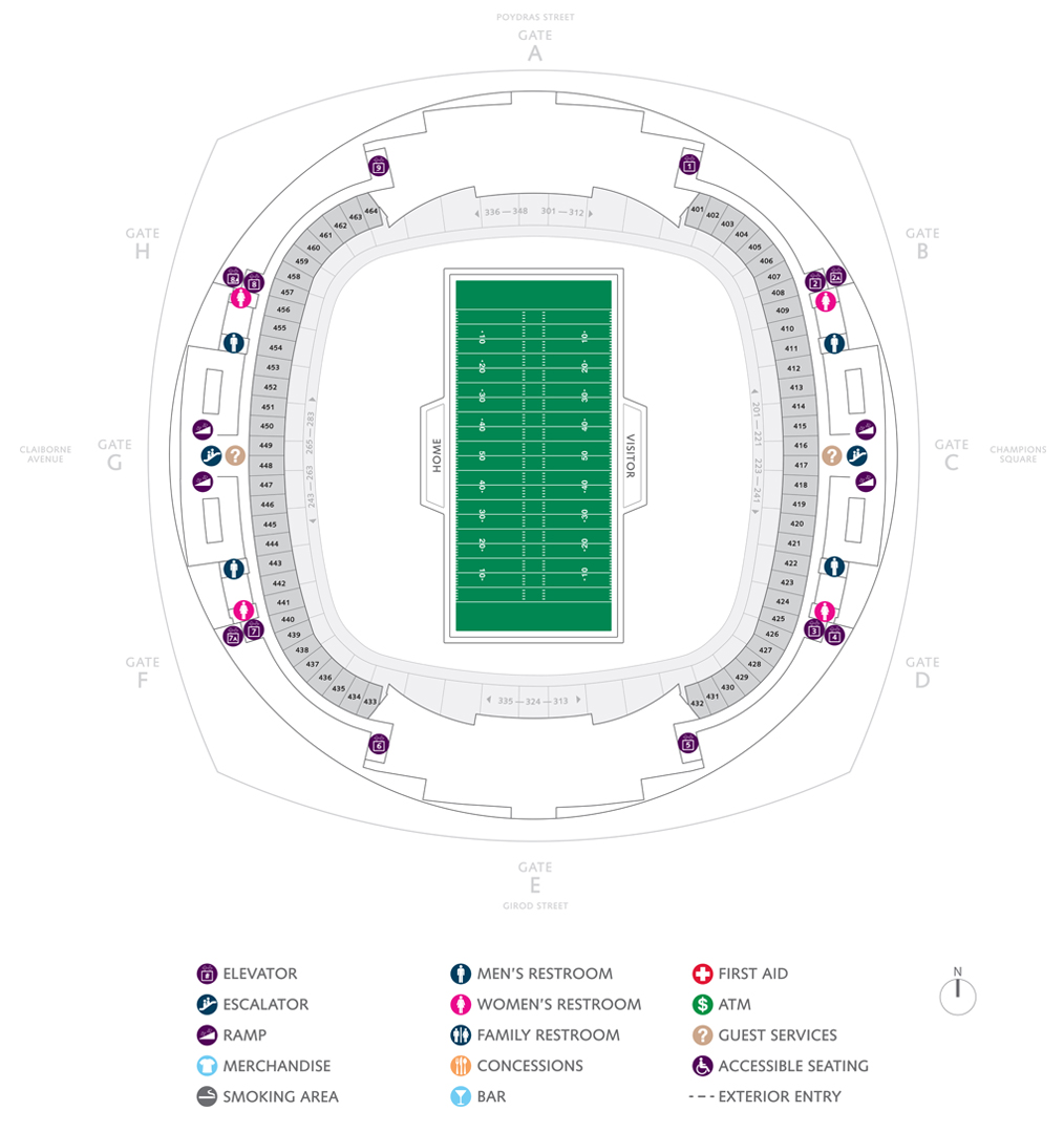 Football Seating Charts   Mercedes-Benz Superdome on map of the northeastern united states, map of the dodger stadium, map of the edward jones dome, map of the global south, map of the pepsi center, map of the port of new orleans, map of the asia pacific region, map of the los angeles area, map of the tampa bay area, map of the cowboys stadium, map of the lincoln financial field, map of the dc area, map of the former soviet union, map of the greater boston area, map of the spillway, map of the georgia dome, map of the aquarium, map of the tri-state area, map of the blue river, map of the lincoln memorial,