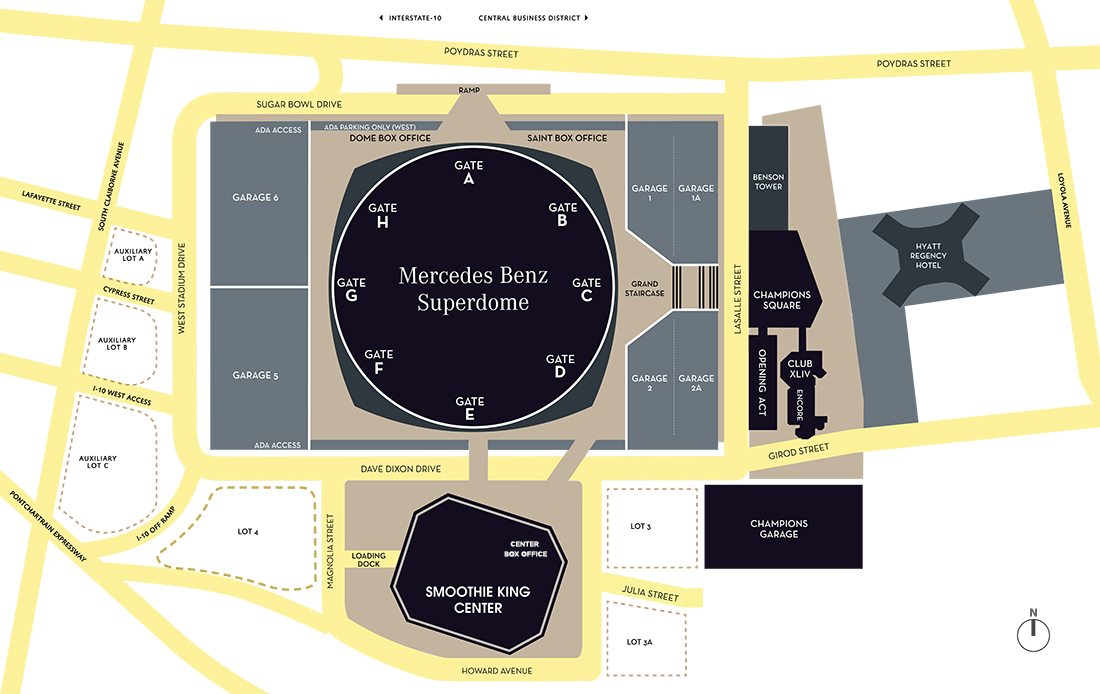 Specs & Floor Plans | Mercedes-Benz Superdome